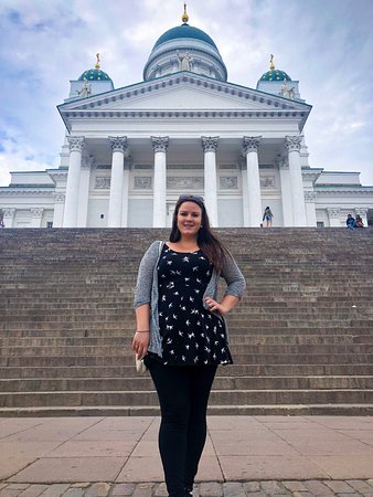 Helsinki Cathedral: Me in front of the cathedral