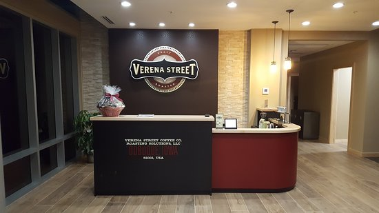 Verena Street Coffee Co.: Reception desk and tasting bar with pour over coffee stand