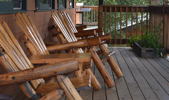 Ely, Minnesota: A chair to relax in overlooking Moose Lake.