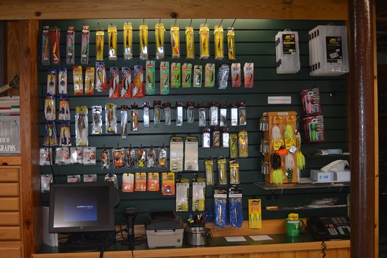 Ely, Minnesota: Fishing supplies in our general store.