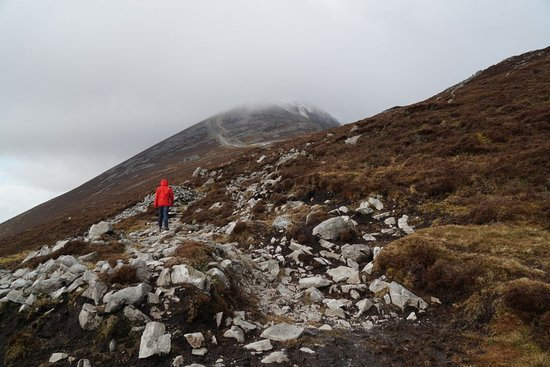 Croagh Patrick: ... but the weather can change quickly!