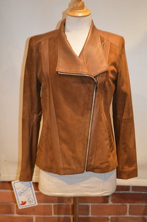 Fourrures Dubarry: Suede and Leather Fitted Jacket