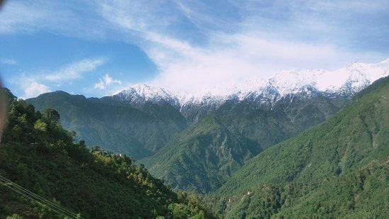 Naddi, อินเดีย: Mountain view from room
