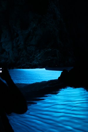 Blue Cave and Hvar 6 Islands full-day Speedboat Tour from Split: Blue caves - the light shines through from the outside and illuminates the waters and the sea be