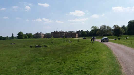 Kedleston Hall: the house from the drive