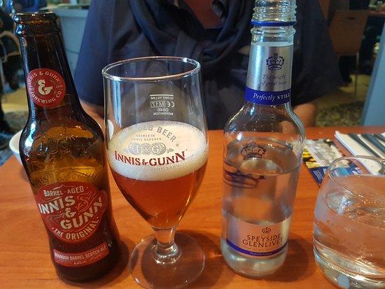 Mussel and Steak Bar: Una gran cerveza a tener en cuenta: Innis & Gunn