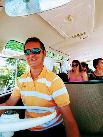 Sambabus sightseeing: Our guide, Imre