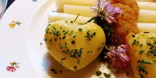 Tschagguns, Austria: Приятный бонус - сердечко из картошки