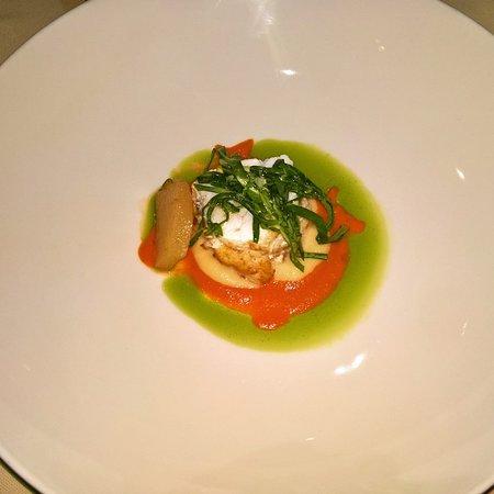 Dubravkin Put: Monkfish cherry tomato cream / Jerusalem artichokes / kohlrabi
