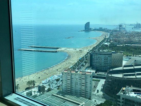 Hotel Arts Barcelona: view from bedroom suite 3109