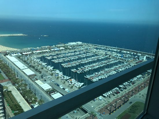 Hotel Arts Barcelona: View from Club Level Lounge 33rd floor