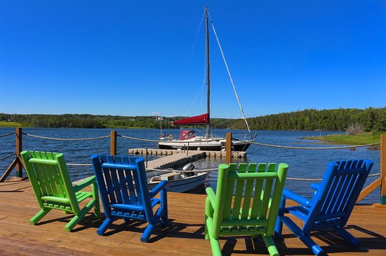 St. Peter's, Canada: Dock for clients to use to relax and excape the world
