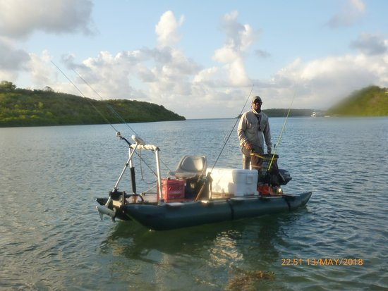 Antigua Fly Fishing & Light Tackle Charters: clever little skiff