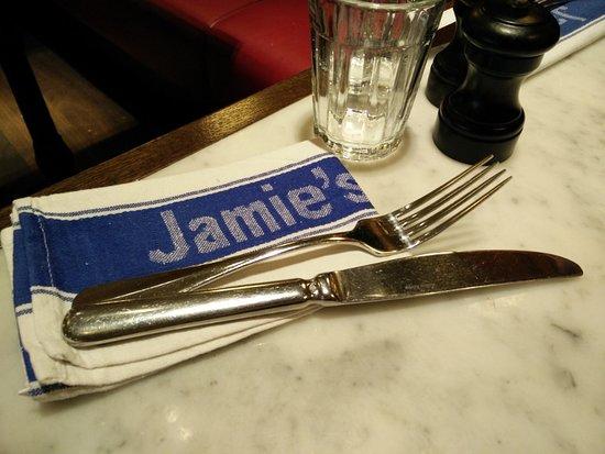 Jamie Oliver Wien: Serviette mit Logo