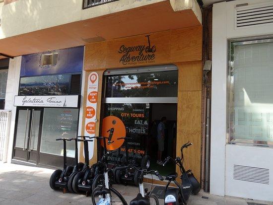 Segway Adventure Malaga: Le magasin