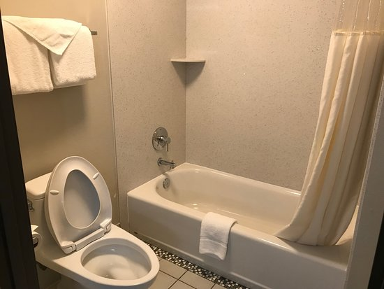 Baymont by Wyndham Redding: Vista parcial do banheiro