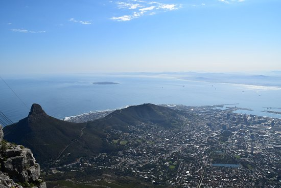 Table Mountain Walks: Downtown Cape Town view