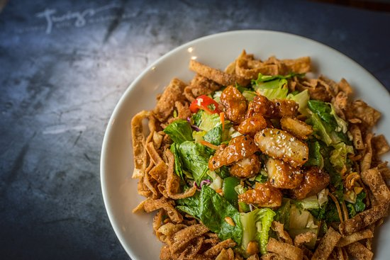 Twigs Bistro and Martini Bar: Orange Chicken Salad is a guest favorite.