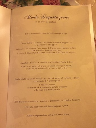 Da Gigetto: menu