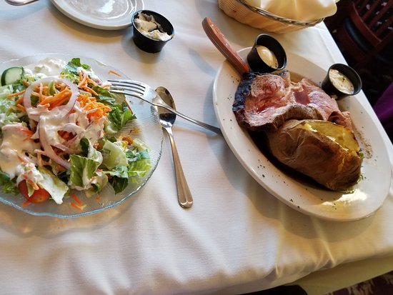 Bristol, NH: Dinner served, with salad barely touched