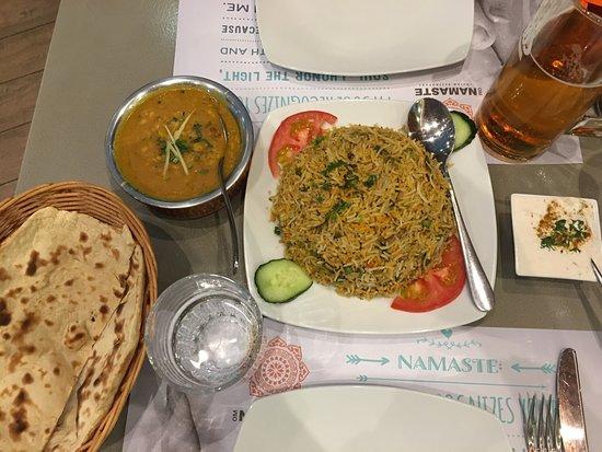 Namaste Indian Restaurant: Biryani, dal and roti