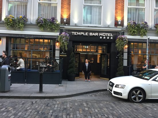 Outside Temple Bar hotel, Dublin