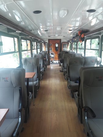 Devils Nose Train Ride from Alausi: a cabin on the train