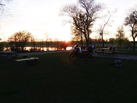 Lake Hoskins: Evening Scene, west side of park