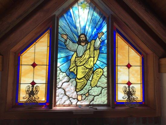 Townsend, GA: Stain Glass Window