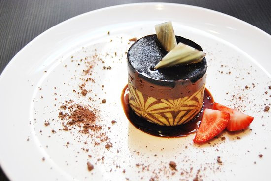 Chocolate Marquise, a rich chocolate dessert made with 79% dark