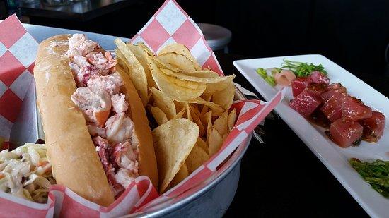 lobster roll and tuna poke