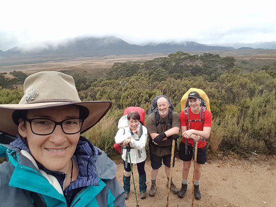 Kahurangi National Park, نيوزيلندا: Looking out over the Gouland Downs on day 2