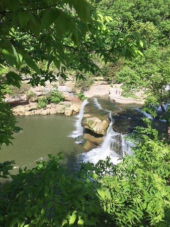 Cataract Falls: Upper Falls peeking through the trees.