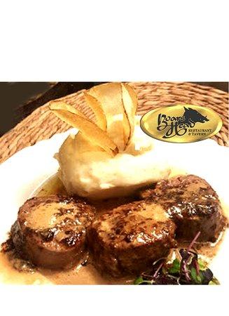 Boars Head Restaurant Tavern Pcb Steak Our Special Filet Mignon