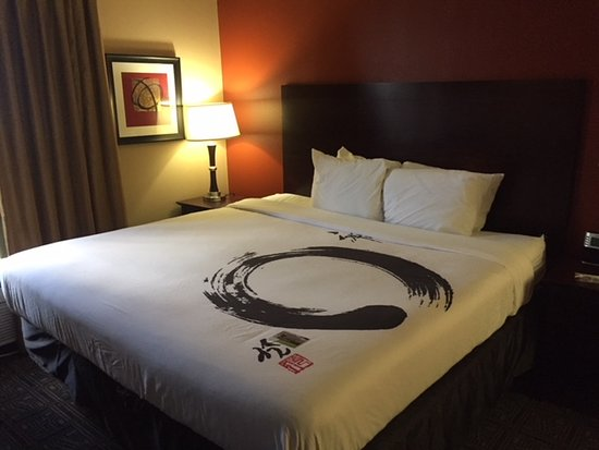 Wingate by Wyndham Dallas/Las Colinas: Nice king size bed with comfy linens