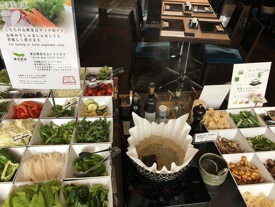 Hotel Ryumeikan Tokyo: Breakfast - with lots of vegetables