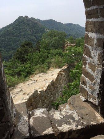 Mutianyu Great Wall and Tian'anmen Square Forbidden City: Great Wall original part not refurbished