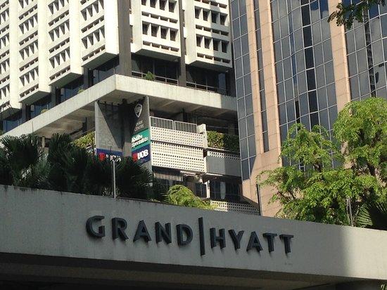 Grand Hyatt Singapore: Hotel view from main road