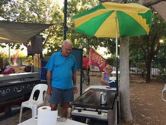 Karumba Point Tourist Park: Peak Season weekly Mini Markets sausage sizzle - enquire at park for dates