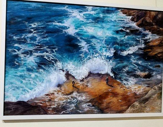Royal Art Society of NSW: Rock pools by Patricia Taylor