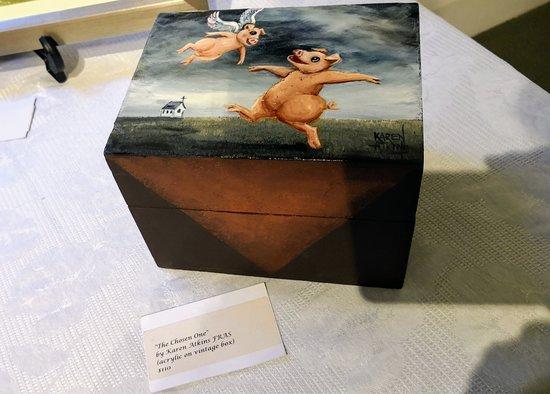 Royal Art Society of NSW: The chosen one, by Karen Atkins. Vintage box.
