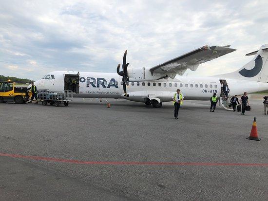 Finnair: Ankomst på Bromma flygplats