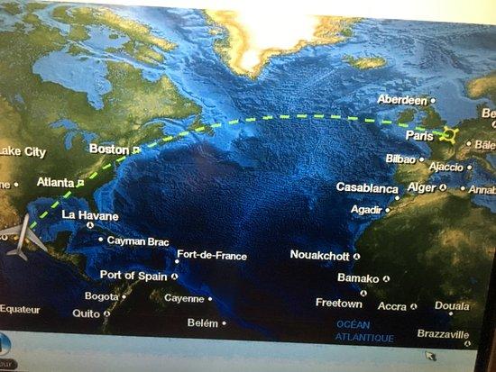Air France: uçuş rotası