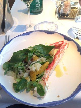 White Rabbit: King crab salad