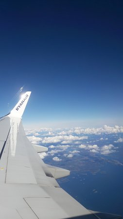 Ryanair: Hadde flott fly vær til Manchester