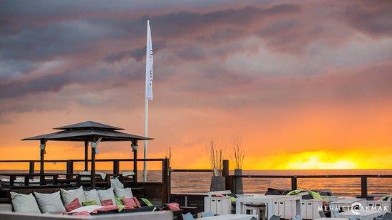 Overveen, The Netherlands: Genieten op het terras van de zonsondergang!
