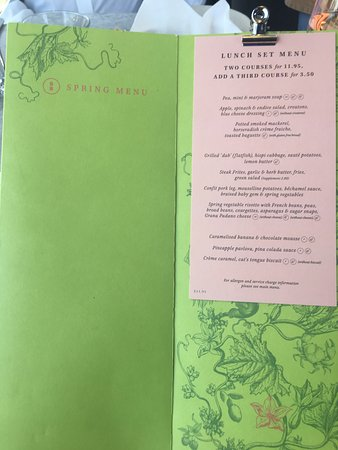 Brasserie Blanc: Spring Menu - Lunch Set Menu