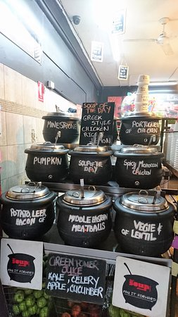 the Soup Place: 西式湯品店餐點