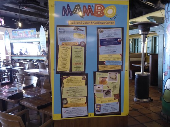 Mambo Cafe: Food choices