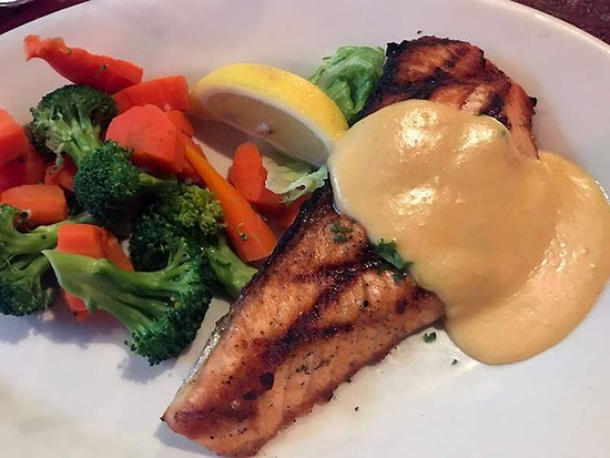 T.S. McHugh's Public House: I'm doing the low-carb thing, so I enjoyed my salmon and veggies
